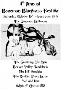 4th Annual Bozeman Bluegrass Festival