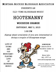Hootenanny poster for May 2015
